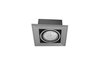 LAMPA PODTYNKOWA BLOCCO SZARY 1x7W GU10 LED