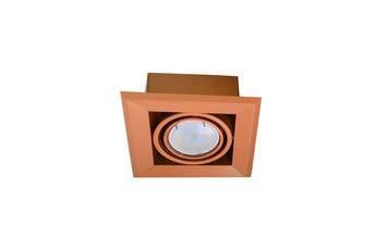 LAMPA PODTYNKOWA BLOCCO POMARAŃCZ 1x7W GU10 LED