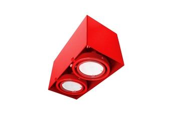 LAMPA SUFITOWA  BLOCCO CZERWONA 2x7W GU10 LED