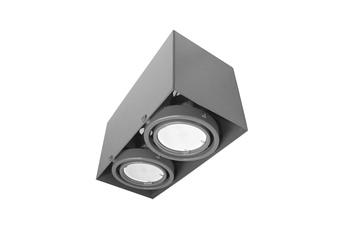 LAMPA SUFITOWA BLOCCO SZARY 2x7W GU10 LED