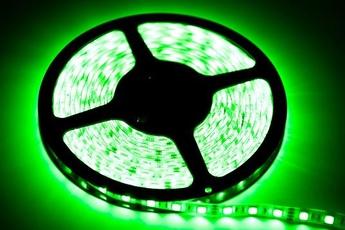 TAŚMA 60 LED 24W. Barwa Zielony. IP65. (5 metrów)