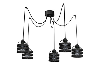 Lampa wisząca LARS BLACK 5xE27