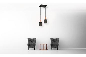 Lampa Wisząca ARES BLACK 2xE27