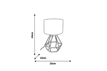Lampa stołowa ALMA BLACK 1xE27
