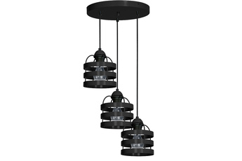 Lampa wisząca LARS BLACK 3xE27