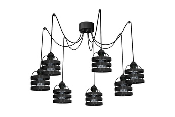 Lampa wisząca LARS BLACK 7xE27