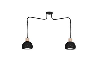 Lampa Wisząca CAPRI BLACK 2xE27