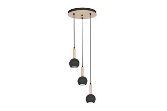 Lampa wisząca BOLLE BLACK 3xGU10
