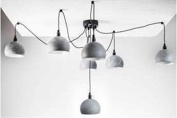 lampa wisząca Pająk 7LP Beton/Czarny
