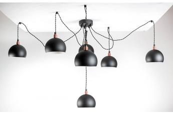 lampa wisząca Pająk 7LP Czarny