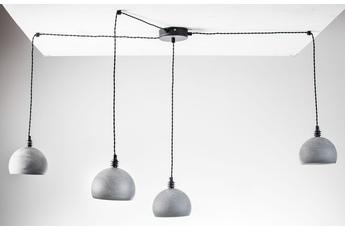 lampa wisząca Pająk 4NP Beton/Czarny