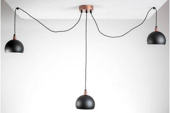 lampa wisząca Pająk 3LP czarny/miedź