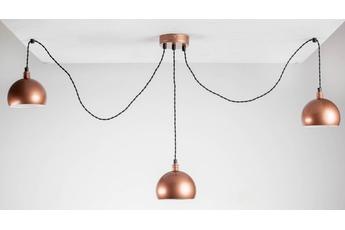 lampa wisząca Pająk 3LP miedź