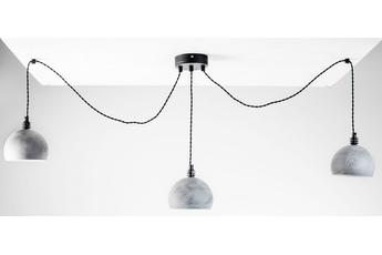 lampa wisząca Pająk 3LP beton/czarny