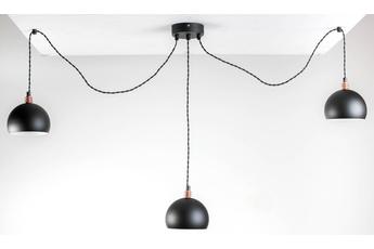 lampa wisząca Pająk 3LP czarny