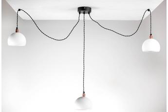 lampa wisząca Pająk 3LP biały/czarny