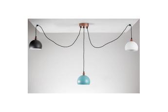 lampa wisząca Pająk 3LP biały/miedź/kolor