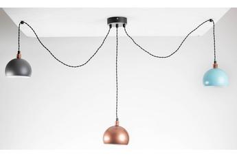 lampa wisząca Pająk 3LP miedź/czarny 3Kolory/czarna