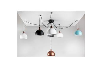 lampa wisząca Pająk 7LP kolory/czarna
