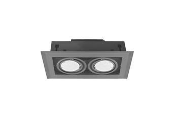 LAMPA PODTYNKOWA BLOCCO SZARA 2x7W GU10 LED